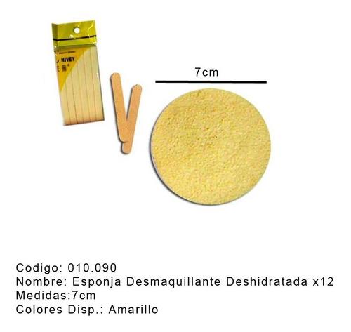 Esponja Comprimida X 12