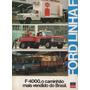 Folder Catálogo Folheto Prospecto Ford Linha F 4000 (fd036)