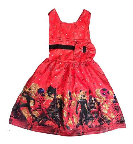 Vestido De Festa Infantil Temático Ladybug