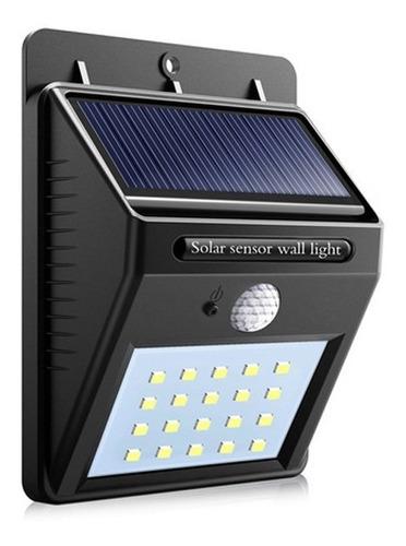Foco Exterior Solar Led Con Sensor De Movimiento A Bateria