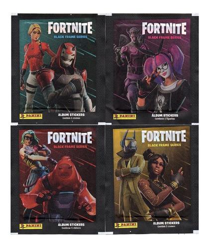 100 Figurinhas Do Fortnite Black Frame Series (20 Envelope)