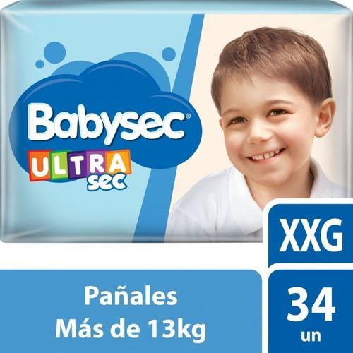 Pañales Babysec Ultraprotec Xxg X 34