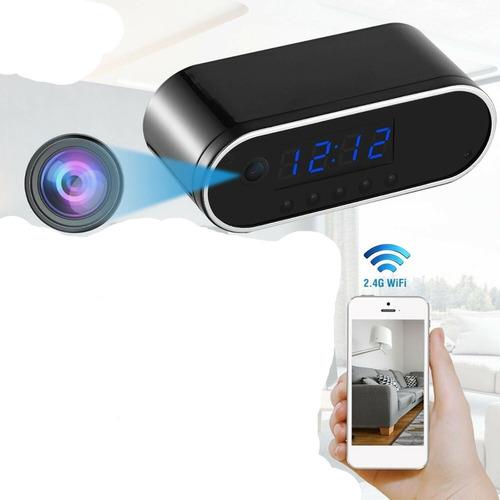 Reloj Mesa Espia Wifi  1080p Hd + 32gb