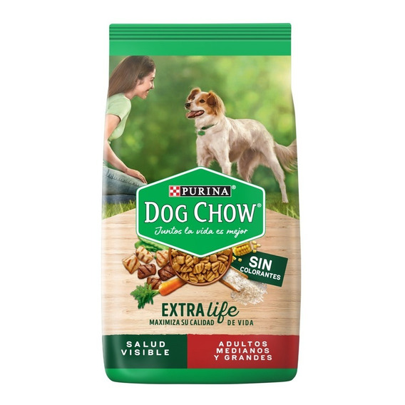 Dog Chow Sin Colorantes Adulos Med Y Grand 21 Kg + Regalos