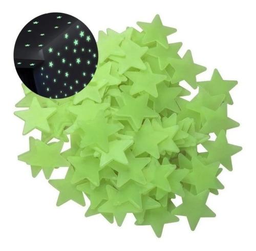 Estrellas  Fluorescentes Adhesivas 100 Piezas