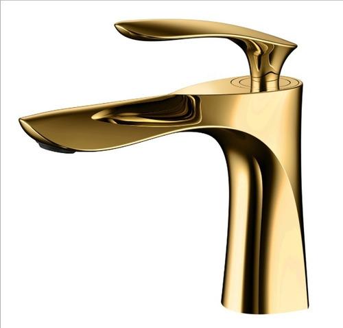 Torneira Monocomando Misturador Banheiro Lavabo Dourado