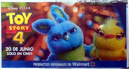 Afiche Original Gigante Toy Story 4 - Modelo Ducky Bunny