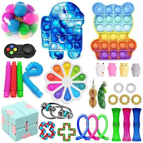 Brinquedo Sensorial Fidget Cubo Anti Stress 30pcs