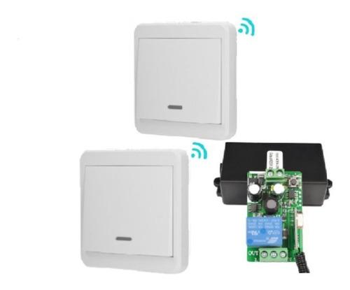 Interruptor Doble Inalambrico Rf 110v-220v Ac