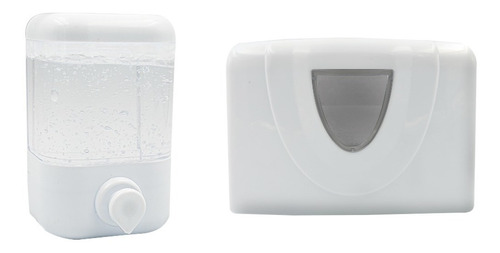 Dispensador De Jabón 500 Ml + Dispensador Toalla Desechable