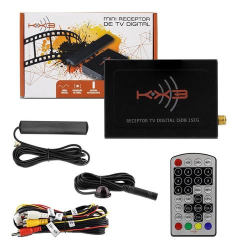 Mini Receptor De Tv Digital Automotivo Kx3 Rca Com Controle