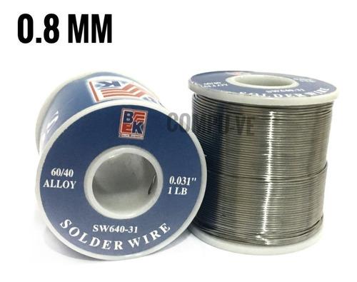 Estaño Bk Rollo 60/40 0.8mm 100% Calidad Original 122m