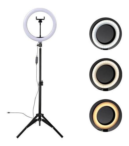 Ring Light Led Iluminador 26cm Completo 2,1m Tripé 210cm P/e