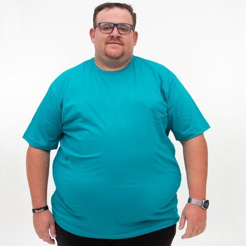 Camiseta Básica Plus Size - G1 Ao G5 - Várias Cores