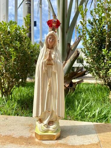 Nossa Senhora De Fátima 30cm - Acabamento Fino C/ Coroa