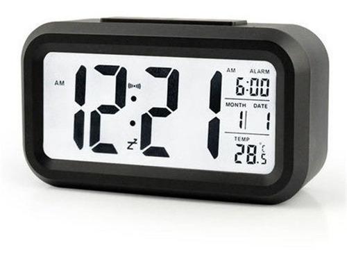 Relógio Portátil Digital Despertador Led Lcd Brilha Escuro