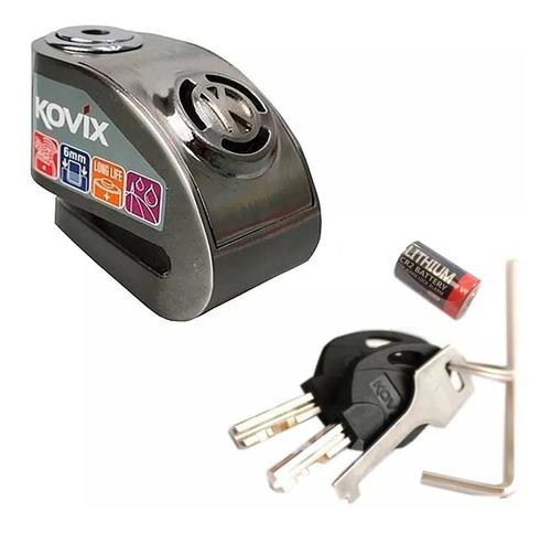 Trava Para Disco Freio Segurança Moto Com Alarme Kovix Kd6