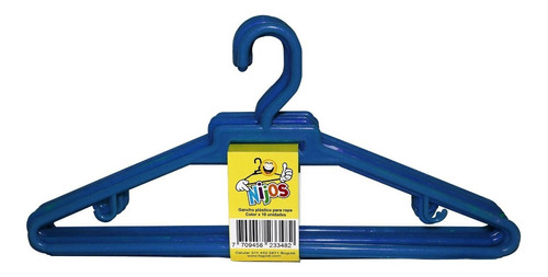 Gancho Plástico Nijos Ropa Adultos, Paquete X 10 Unid. Color