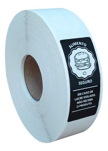 Etiqueta Lacre Segurança Adesivo Delivery Ifood 1.000 Und