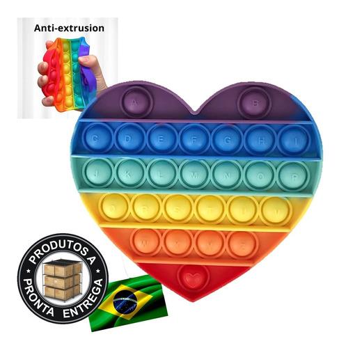 Pop It Fidget Brinquedo Anti Stress Estourar Bolha Sensorial
