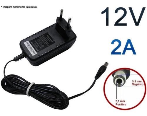 Kit 10 Fonte 12v 2a Para Cftv Ou Receptor De Tv Sagemcom