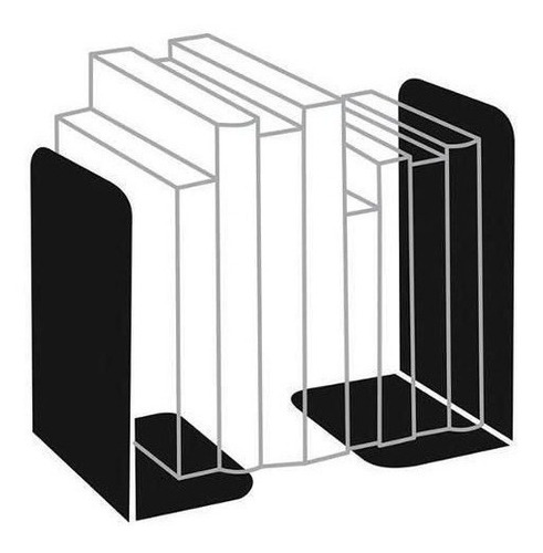 Bibliocanto Metal Suporte Apoio Livro Aparador Lateral Par
