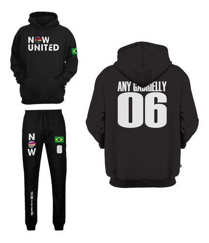Conjunto Now United Any Gabrielly 06 Kit Moletom E Calça