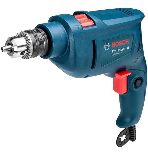 Furadeira De Impacto Bosch 450w Gsb450 C/ Brocas 220v