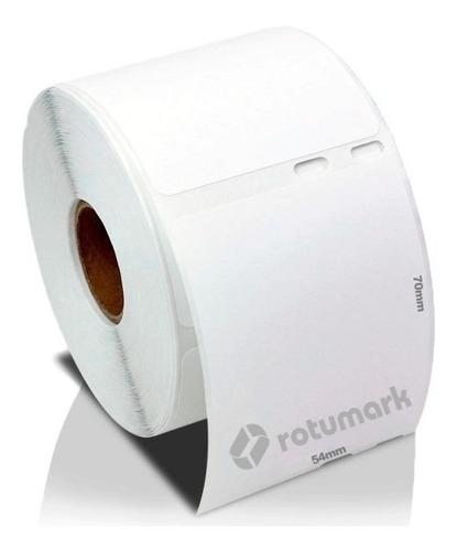 Rollo De Etiquetas Adhesivas 54mm X 70mm Compatible Dymo 450