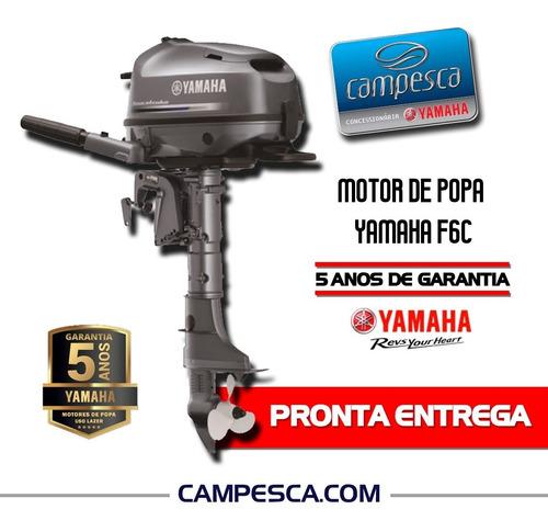 Motor Popa Yamaha F6cmhs 2021 6hp 4t Pronta Entrega Zero