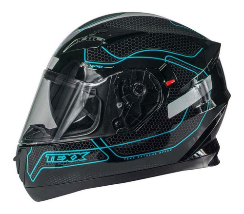 Capacete Moto Texx G2 Panther Dupla Viseira Solar Azul