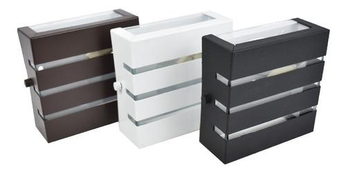 Kit 3 Arandela Externa Alumínio 3 Frisos Led Incluso 5w