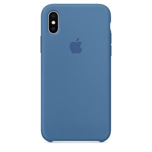 Funda Silicone Case Para El iPhone X - Azul Vaquero