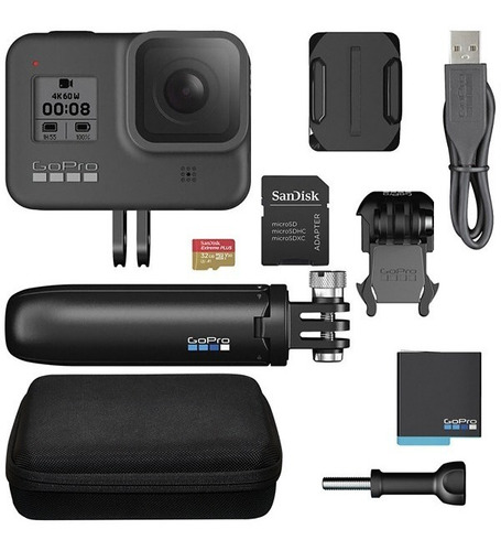 Câmera Gopro Hero 8 Black Bundle Kit Combo Completo