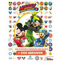 Livro 500 Adesivos Disney Mickey Sobre Rodas