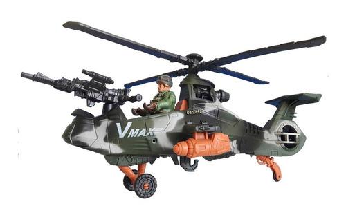 Dante42 Juguete Helicoptero Militar Combate Soldado