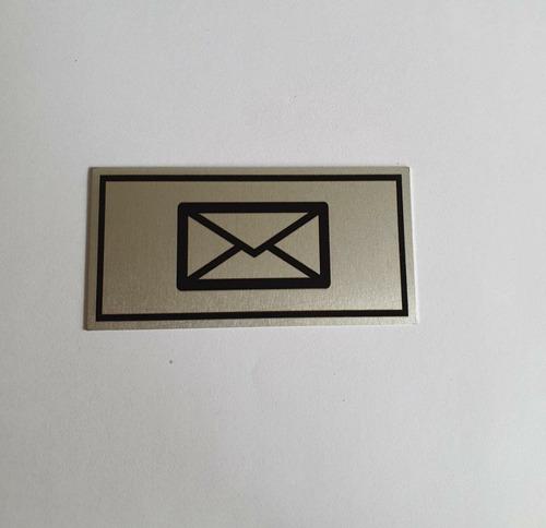 Placa Em Aluminio 3,5 X 7cm  Desenho Cartinha