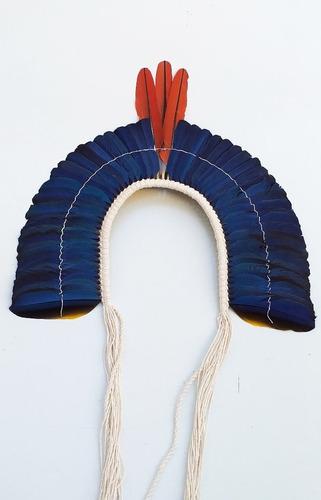 Cocar Indígena Penas Indio Exclusivo Arte Original
