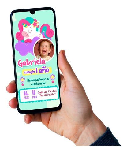 Invitación Animada De Cumpleaños En Video- Unicornio