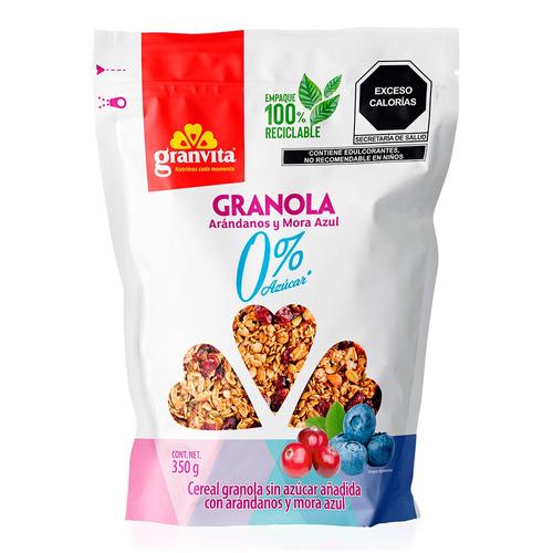 Granola Granvita 0% Azúcar Arándanos Y Mora Azul En Bolsa 350g