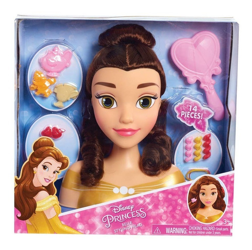 Juguete Cabeza Para Peinar Disney Princesa Bella Remate!!