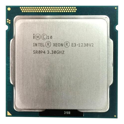Processador Intel Xeon E3-1230 V2 Cm8063701098101 De 4 Núcleos E 3.3ghz De Frequência