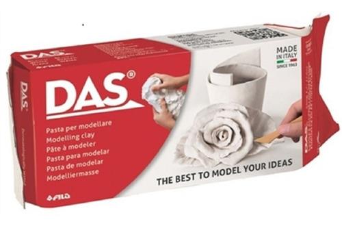 Massa Modelar Escultura Cerâmica Fria Das 500g Branca