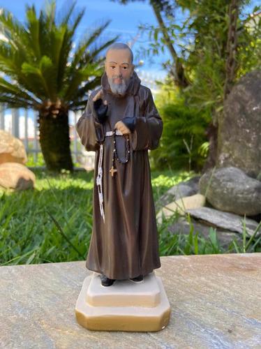 Imagem Padre Pio Gesso Em Acabamento Fino - 20cm