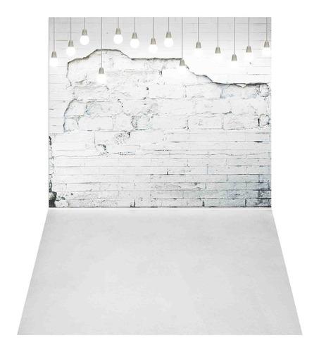 Fundo Fotográfico Tijolos Brancos Em Tecido 1, 75x1, 20 Pn 117