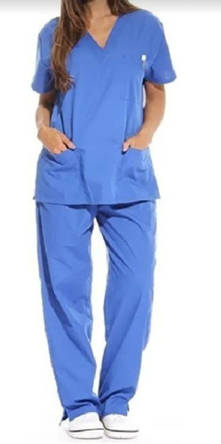 Pijama Cirúrgico Scrubs Oxford Não Amassa Seca Rápido Unise