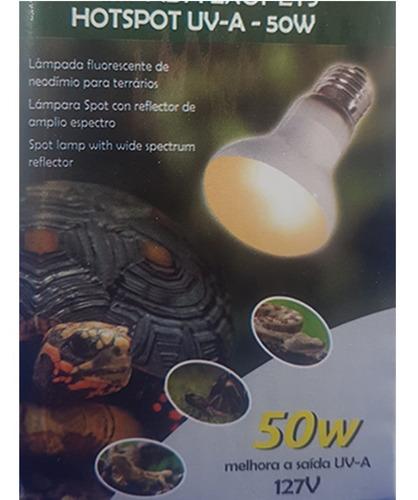 Lâmpada De Aquecimento + Uva 50w Para Répteis - Artexotics