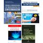 4 Livros Enfermagem Técnicas Básicas terminologia Cálculo