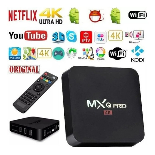 Conversor Smart Tv Box 4k Ultra Hd 128 Gb + 8gb + Teclado
