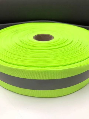 Faixa Refletiva Verde Fluorescente Para Uniforme 100 Metros